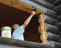 Окосячка деревянного дома в Орехово-Зуевском районе