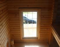 Окосячка деревянного коттеджа из бруса